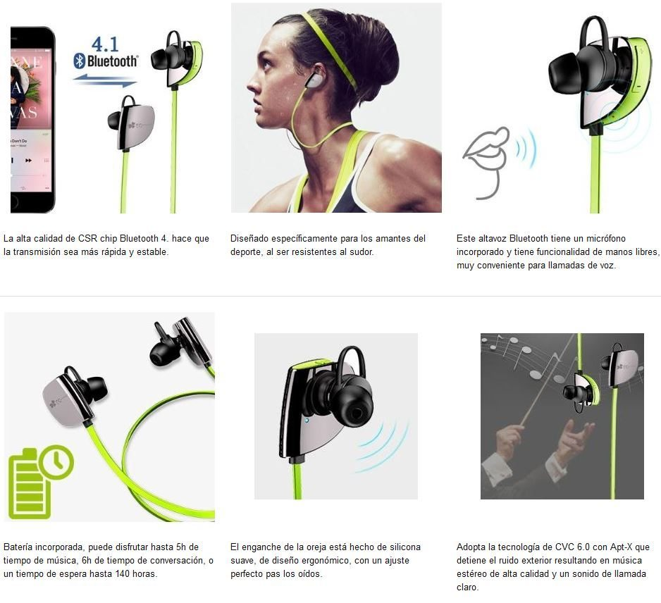 especificaciones bluetooth
