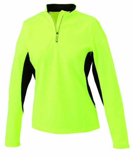 James & Nicholson Ladies' Running Shirt - Camiseta manga larga de running para mujer, color amarillo fluorescente / negr 13.79€