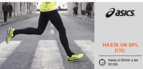 Hasta un 50% de descuento en calzado Asics ya rebajado