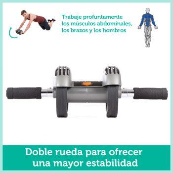 Rueda de ejercicio profesional rodillo asistido abdominales y brazos