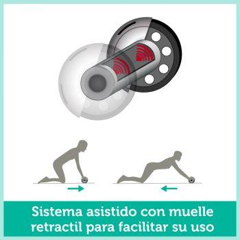 05Rueda de ejercicio profesional rodillo asistido abdominales y brazos