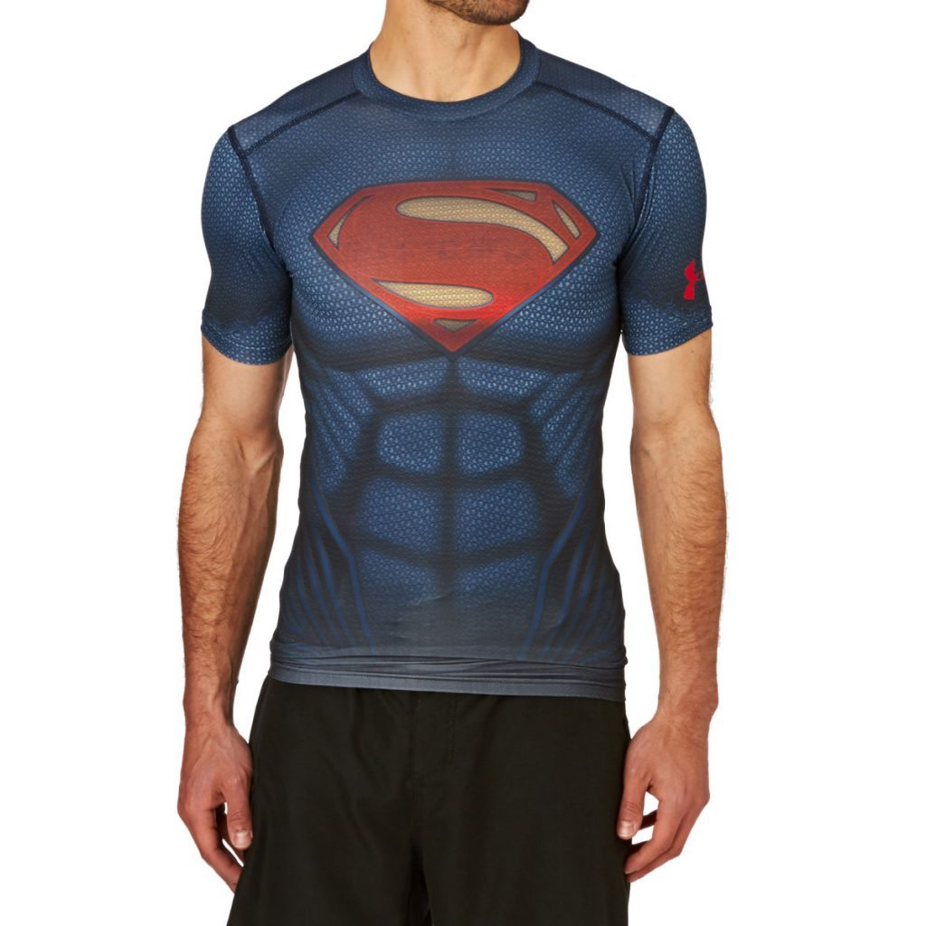 Under Armour Superman Suit Short Sleeve
