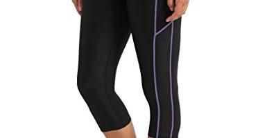 Ultrasport Pantalones pirata de correr para mujer con efecto de compresión