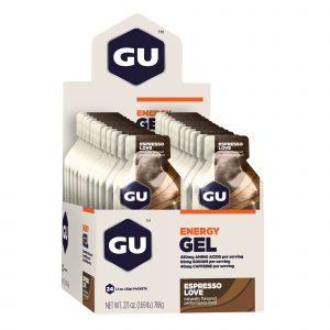 Geles energéticos con cafeína GU