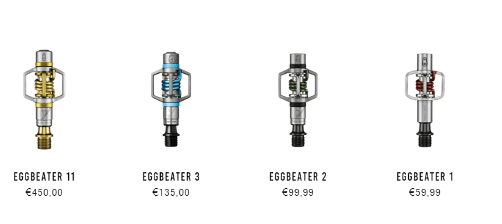 modelos pedales eggbeater