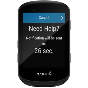 Garmin Edge 530 - Alarma de accidente