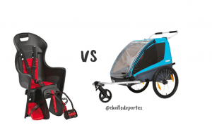 Sillitas de bebés para bici vs remolques