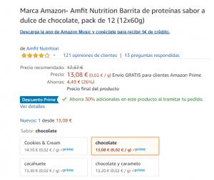 oferta proteina amazon