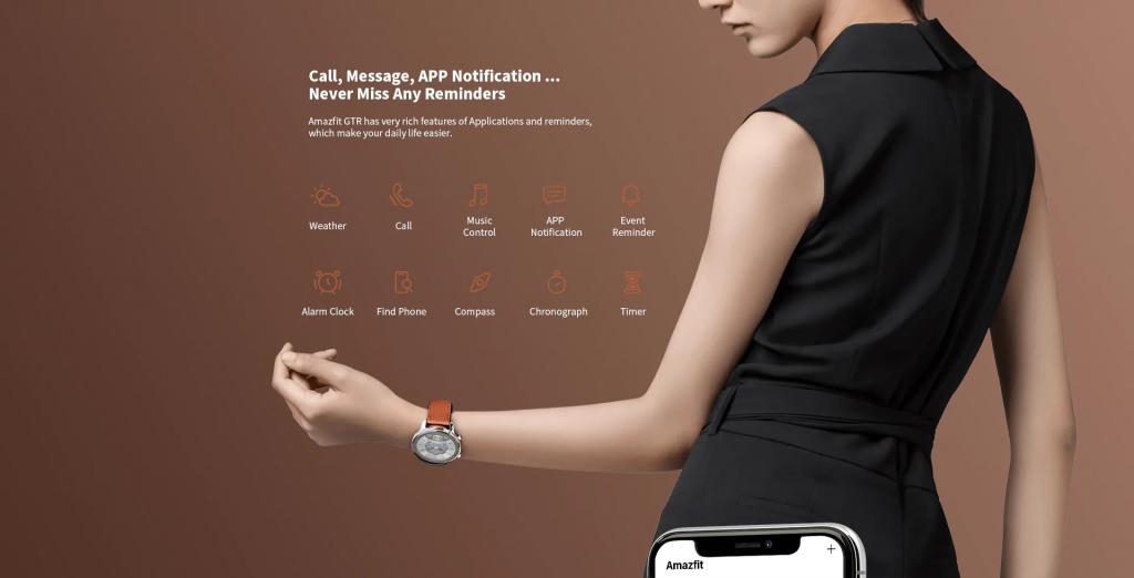 Amazfit GTR como smartwatch