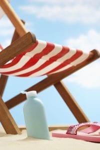 Crema solar para la playa