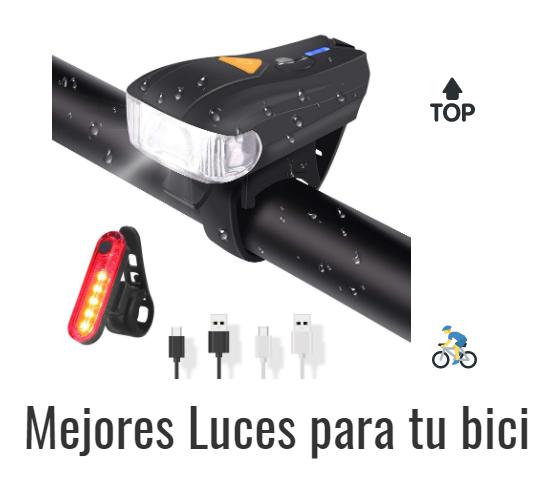 Luz Linterna Bicicleta Bici Foco Pack Luz Delantera y Trasera de Calidad 5 LED