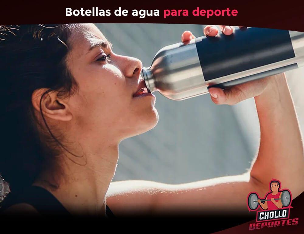 Botellas de agua para hacer deporte