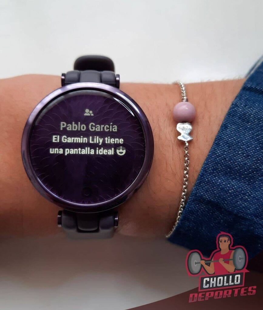 Garmin Lily notificaciones